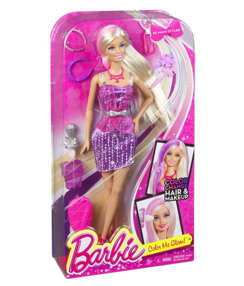 Barbie Long Hair with Color &Style Beauty Doll