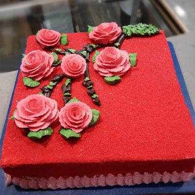 Square Red Velvet Cake
