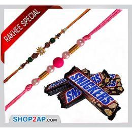 5 Snickers N 2 Rakhis_Combo
